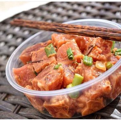 poke in bowl with chopsticks